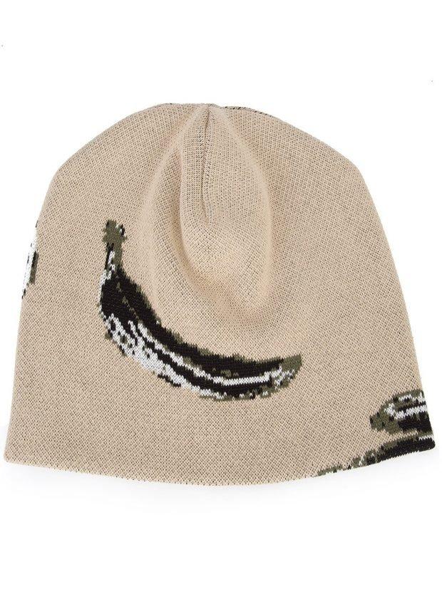 шапка бини с рисунком