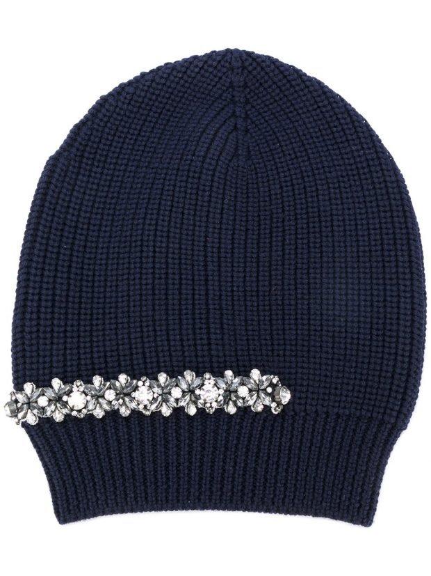 шапка бинни с декором