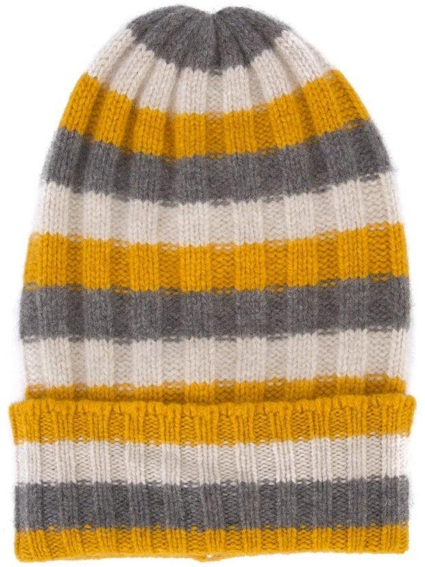шапка бинни полосатая