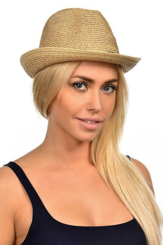 соломенная шляпа бежевая