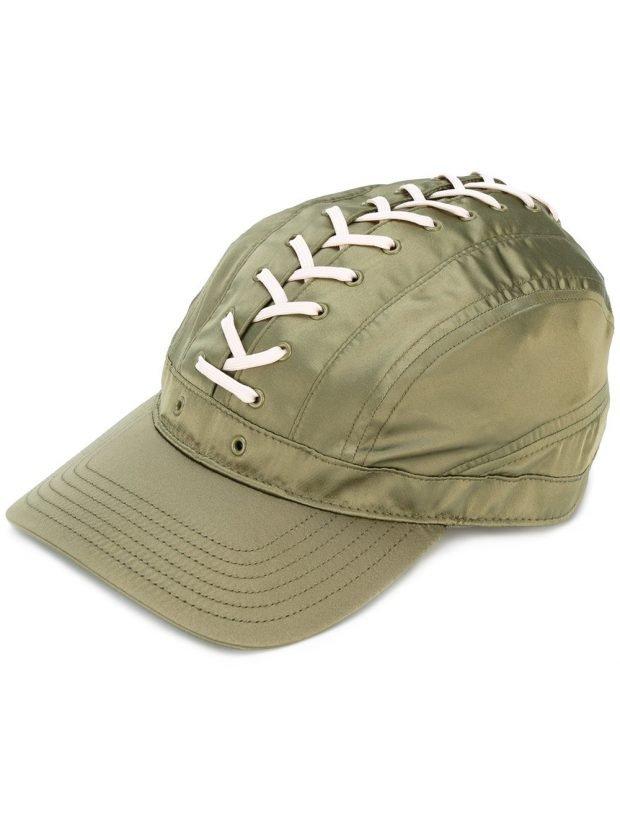 кепка зеленая