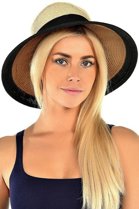 соломенная шляпа с ободком