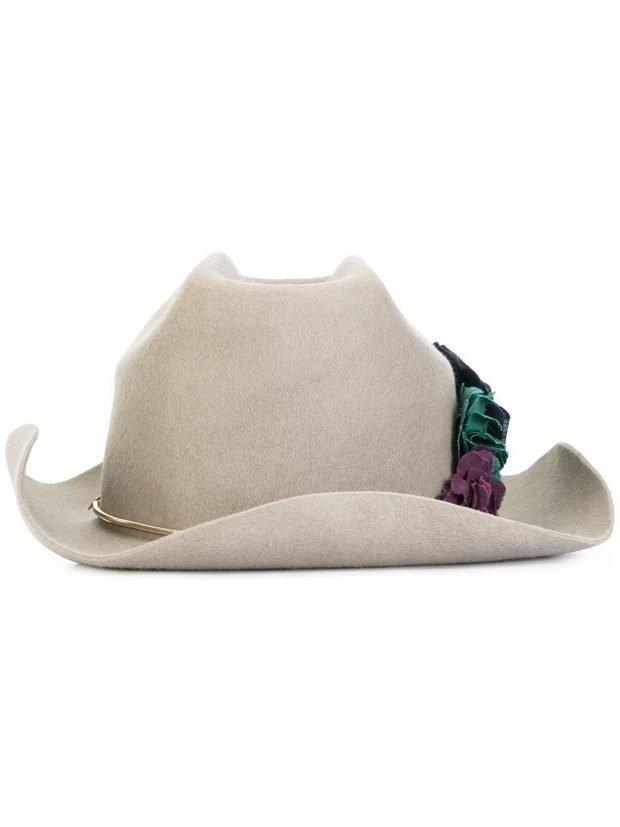 ковбойская шляпа серая