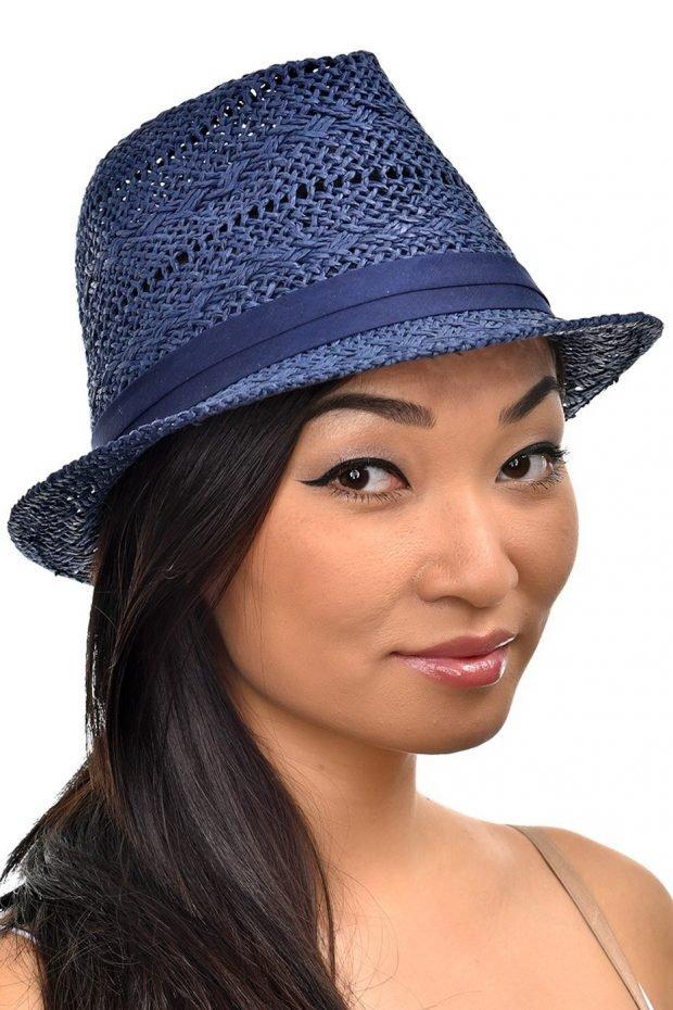 соломенная шляпа синяя