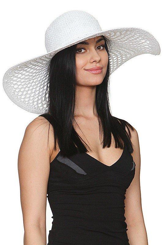 широкополая шляпа белая