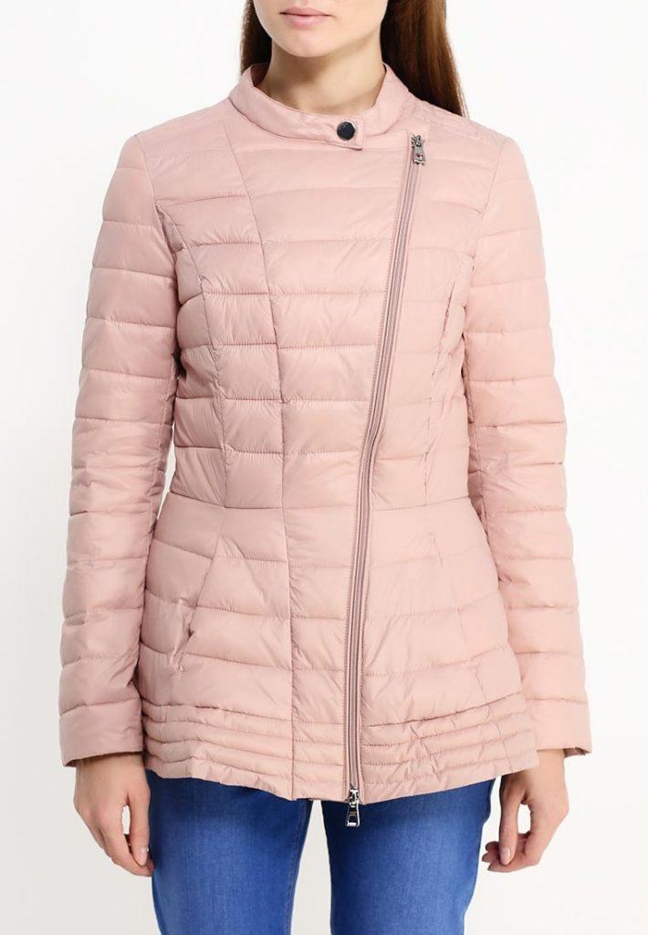 розовая стеганая
