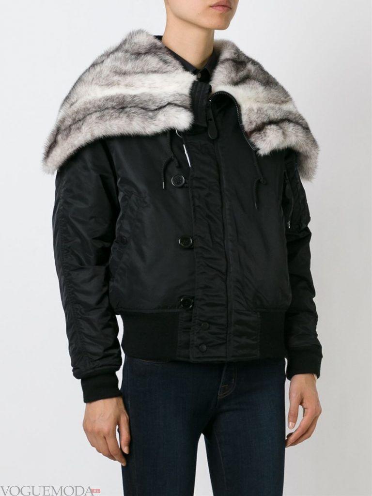 куртка с серым мехом