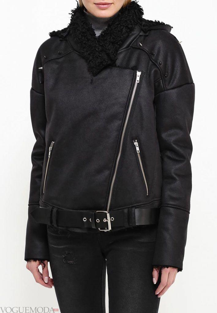 куртка дубленка с поясом