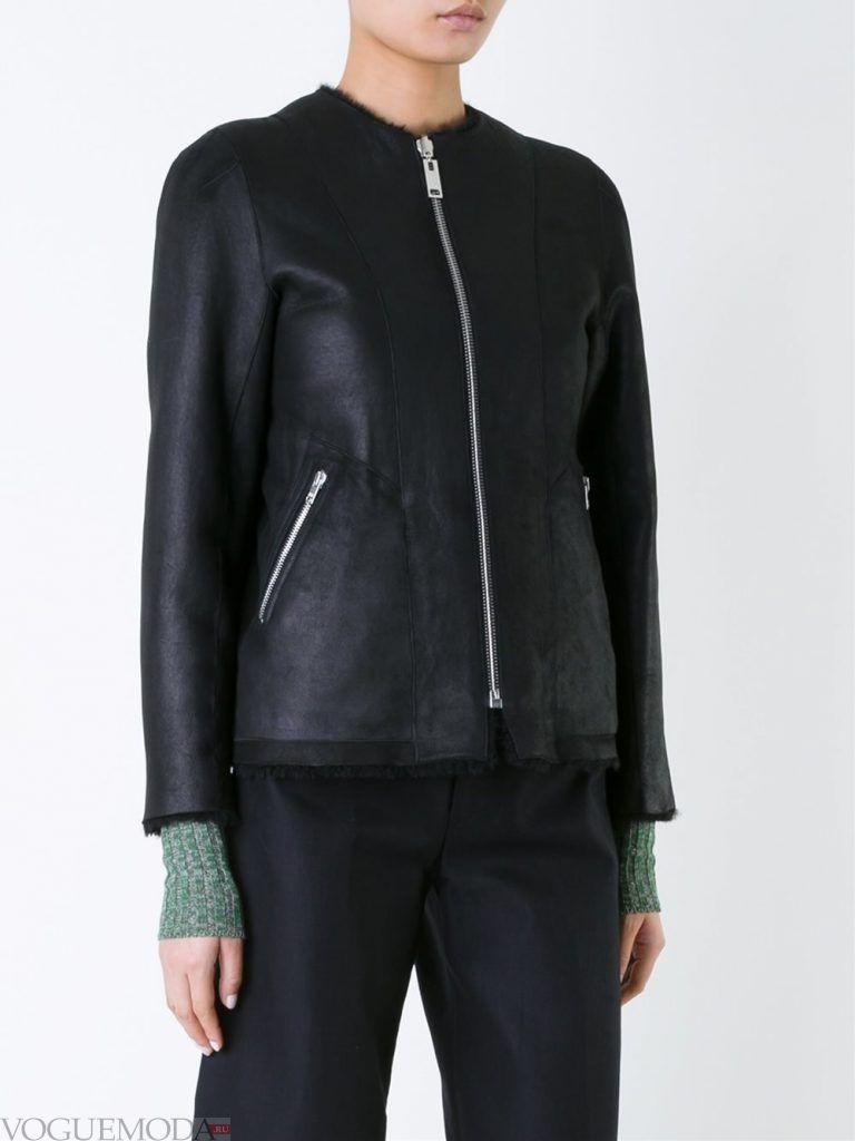 куртка дубленка без воротника