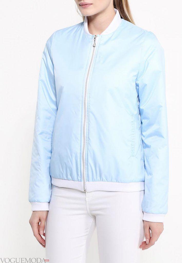 куртка бомбер голубая