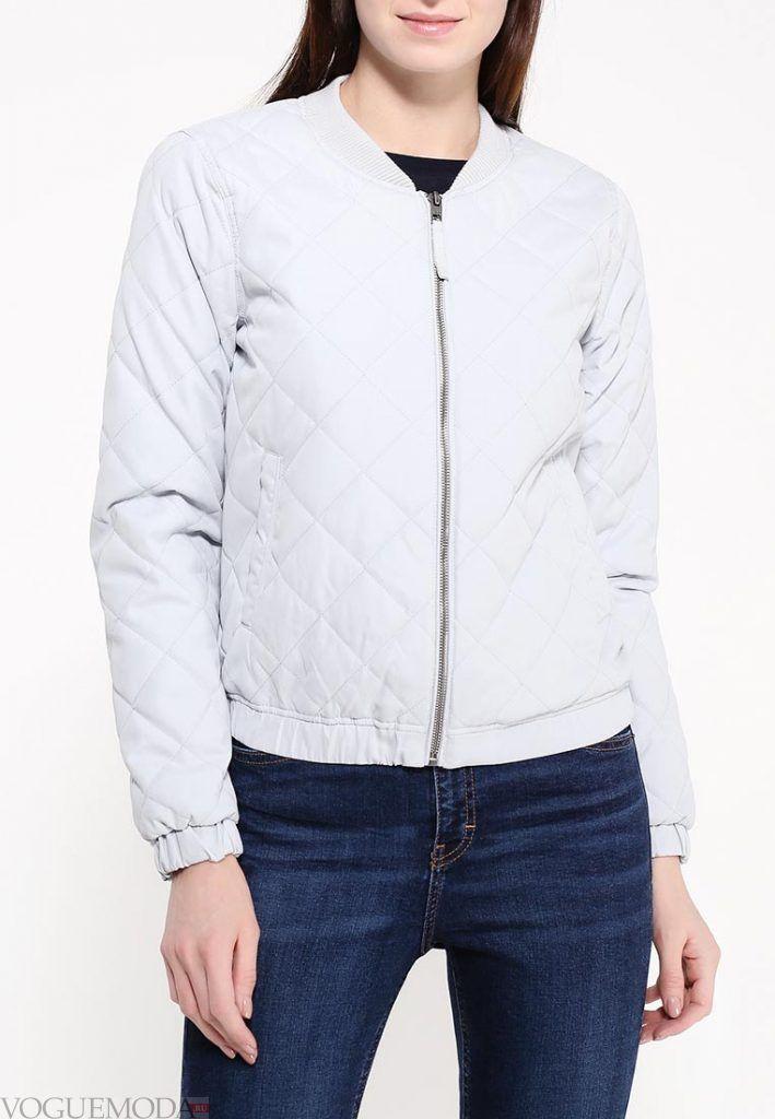 куртка бомбер светлая