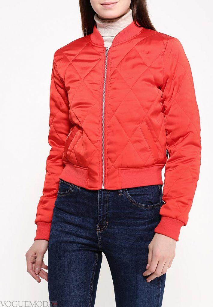 куртка бомбер красная