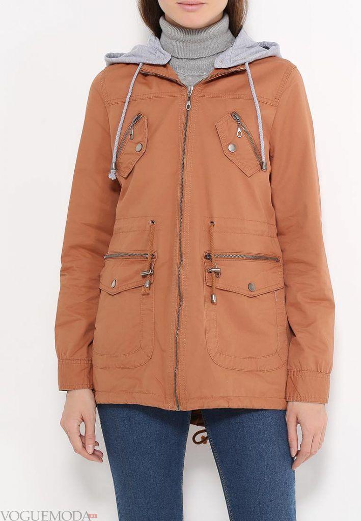 куртка парка с карманами