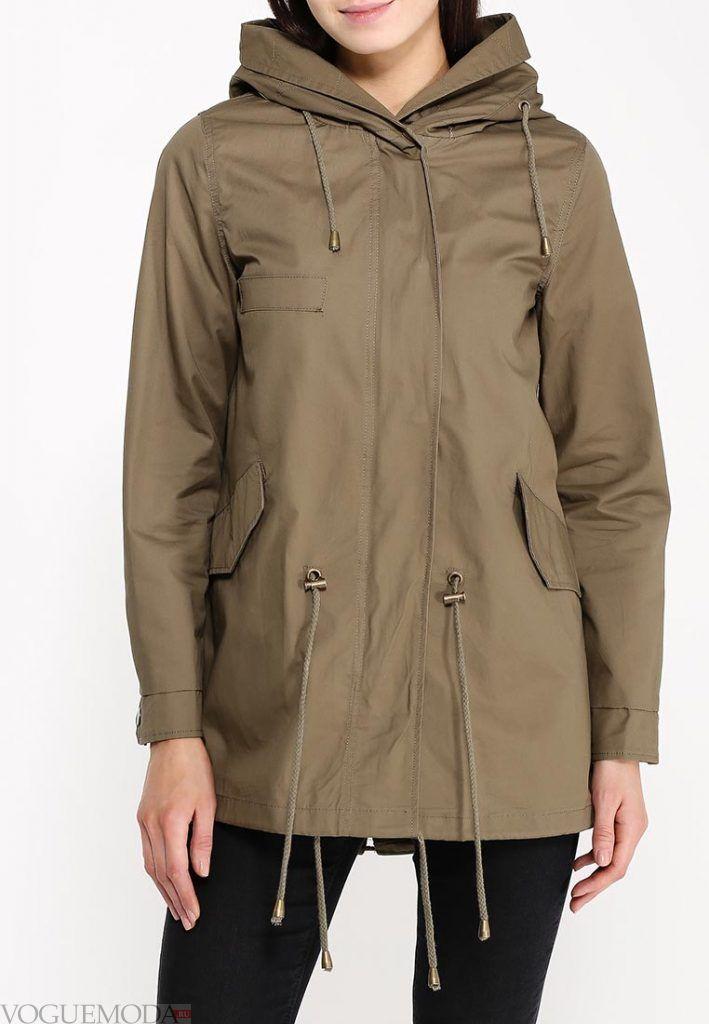 куртка парка зеленая
