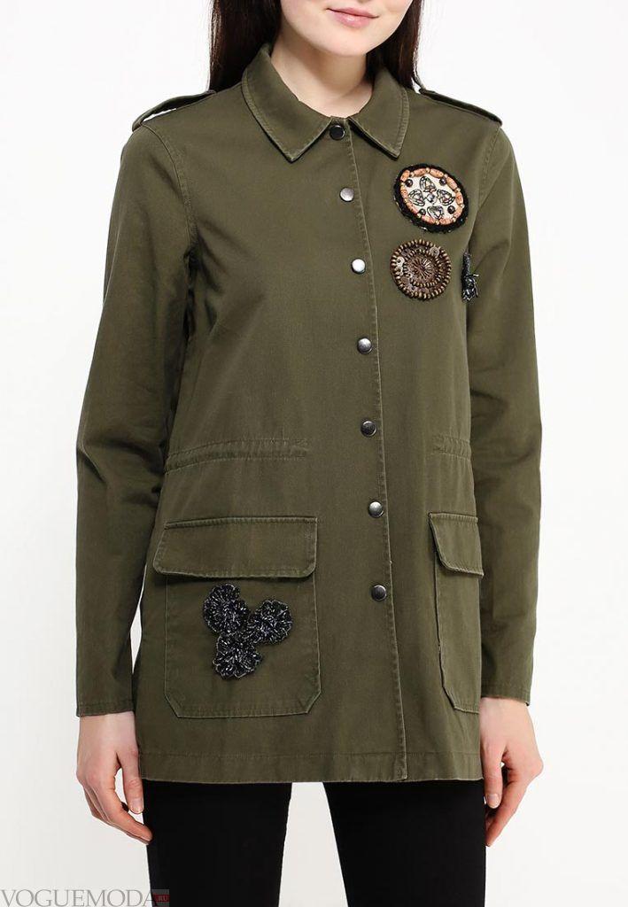куртка парка оливковая