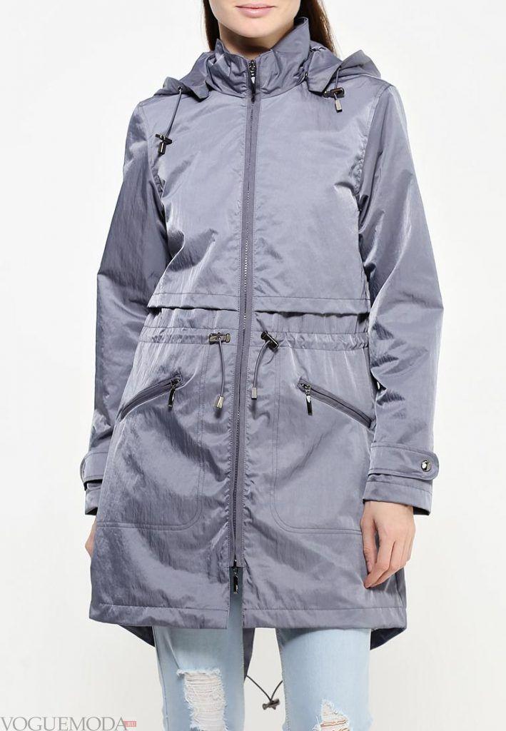 куртка парка серая