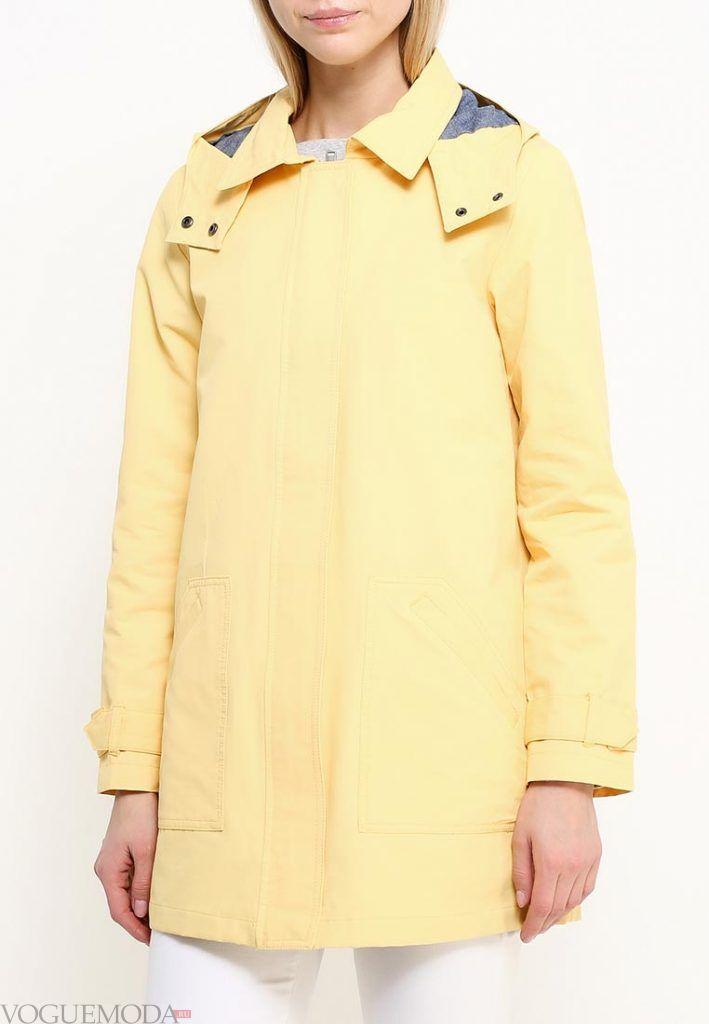 куртка парка желтая