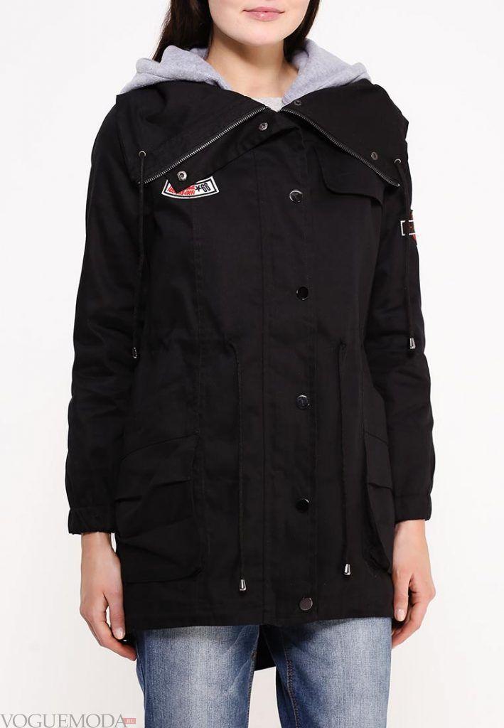 куртка парка черная
