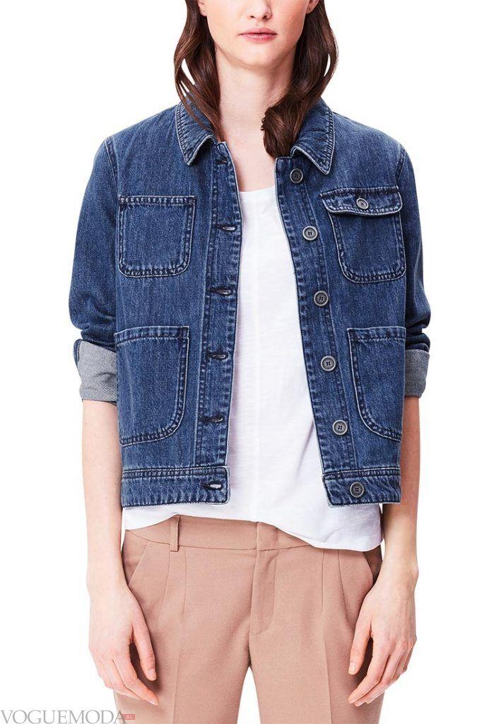 джинсовая куртка синяя