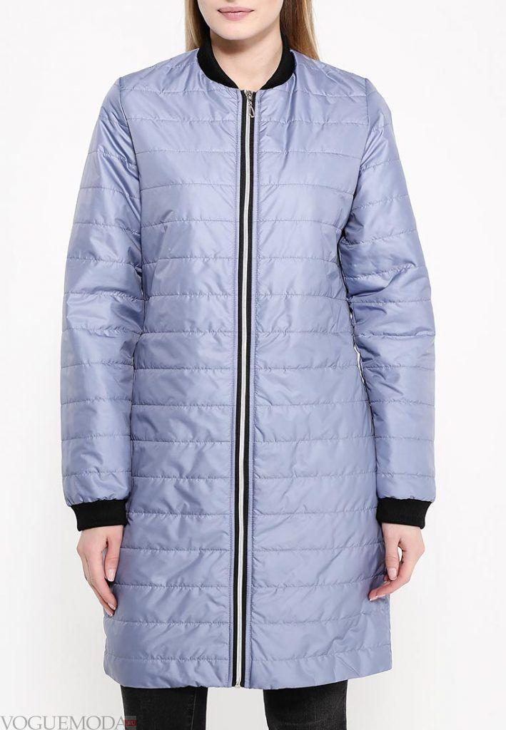 куртка пуховик голубая