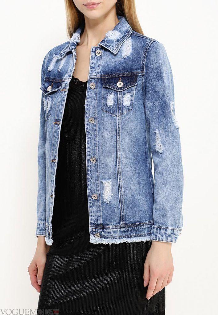 джинсовая куртка потертая