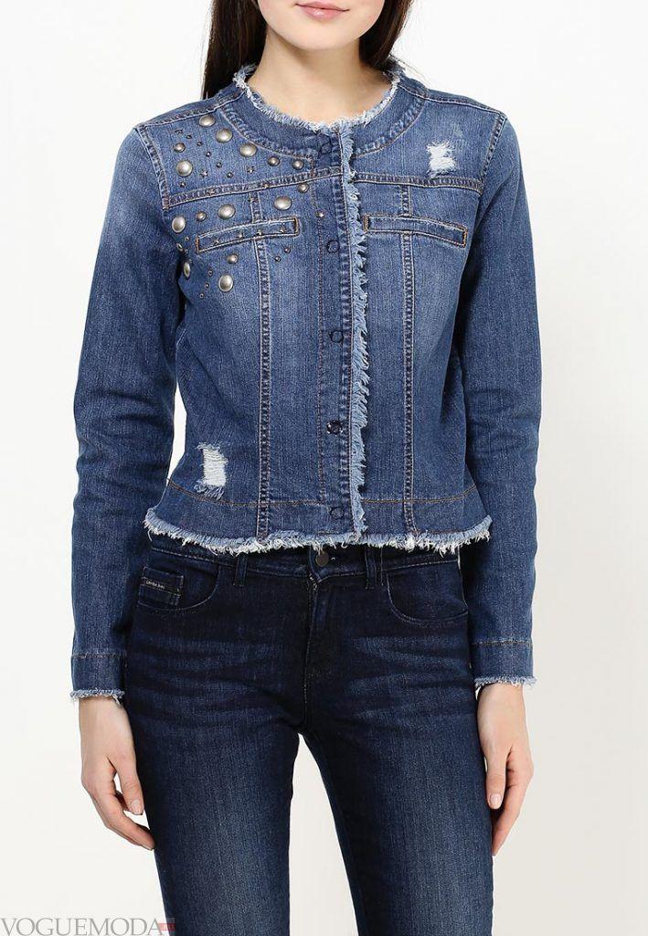 джинсовая куртка темная