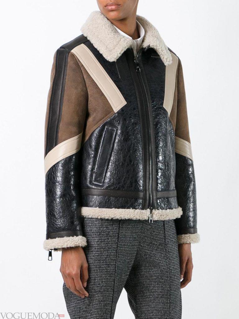 кожаная куртка цветная