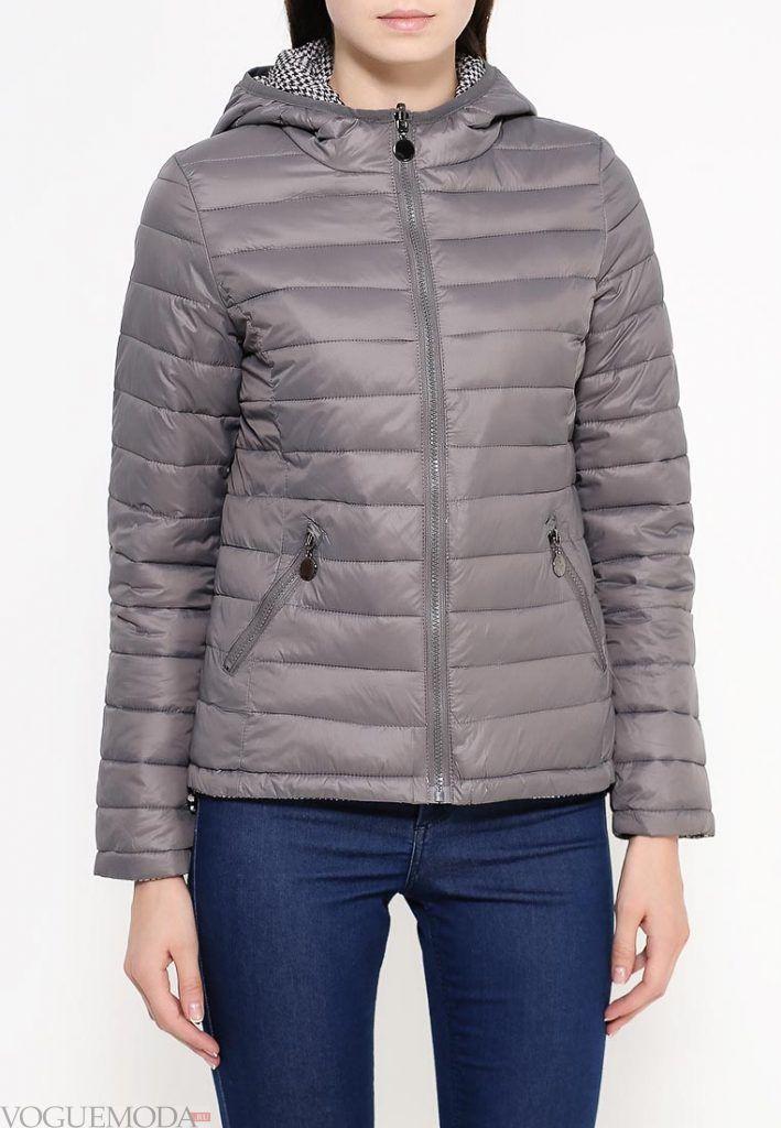 куртка осень зима серая