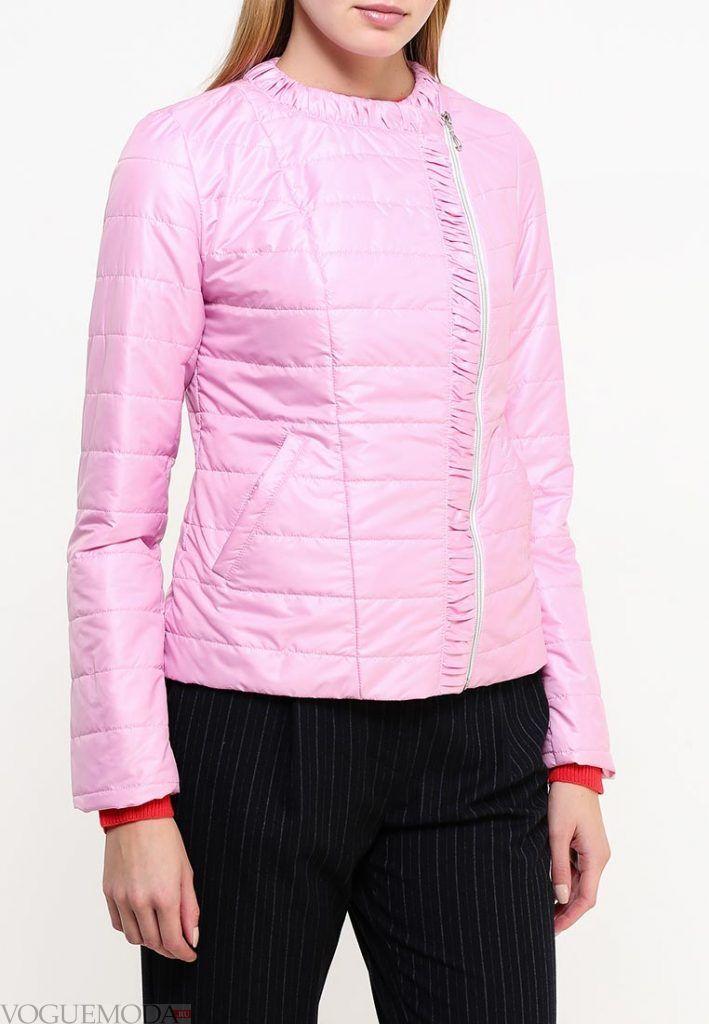 куртка осень зима розовая