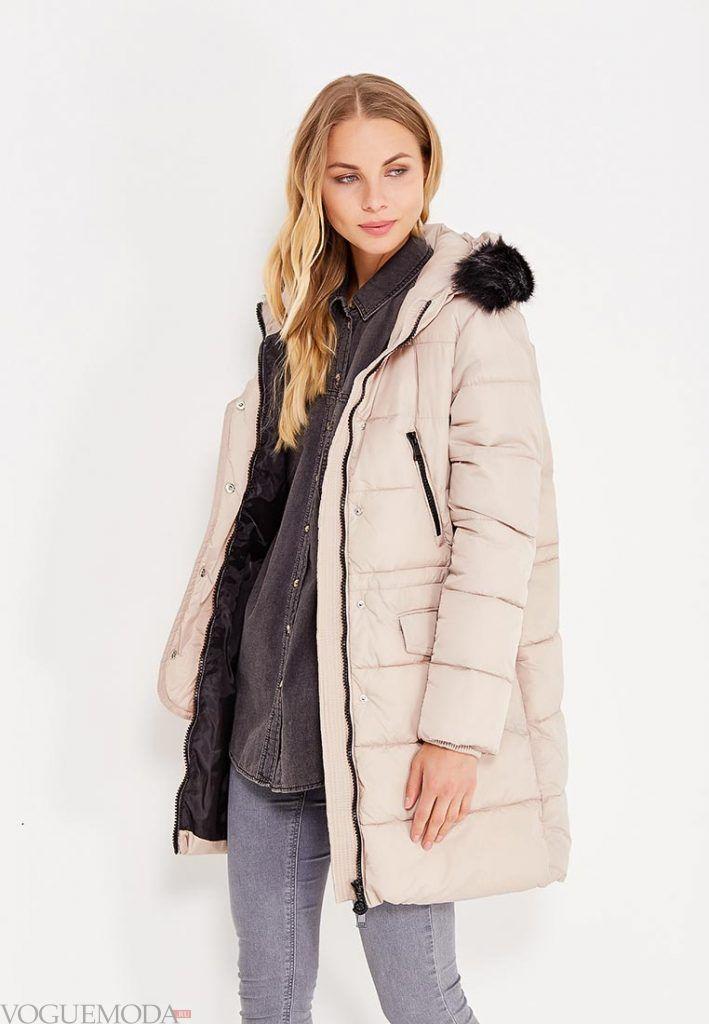 куртка осень зима беж