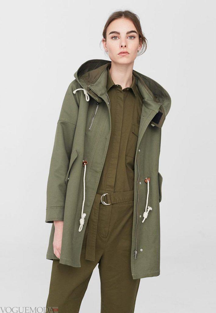 куртка осень зима зеленая