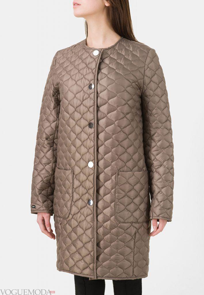 куртка осень зима бежевая