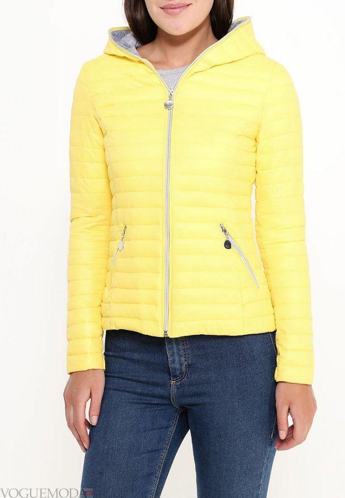 куртка осень зима желтая