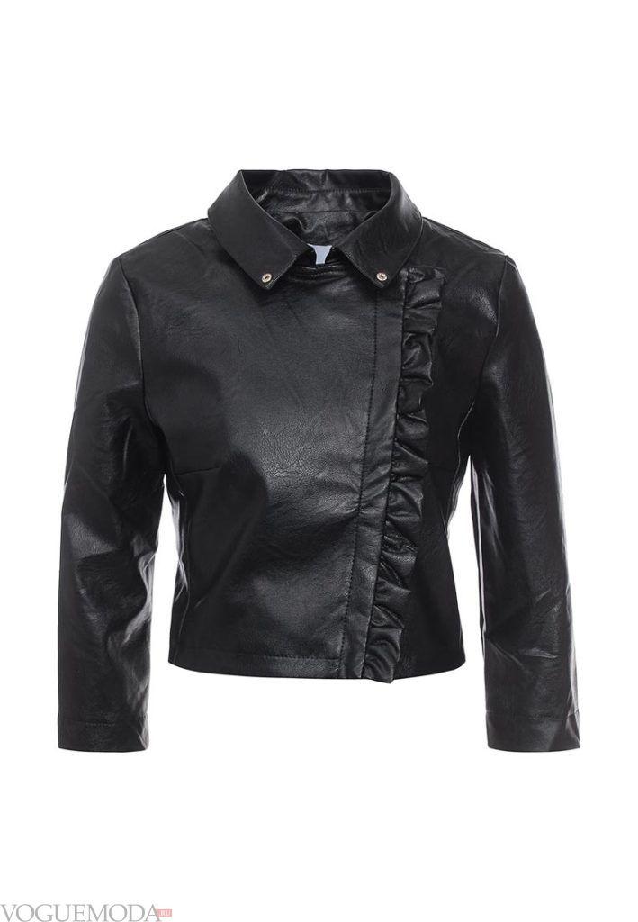 куртка косуха с декором рюша