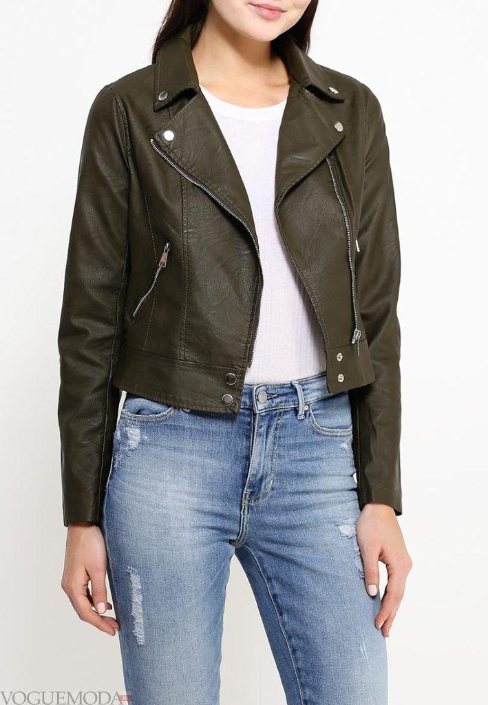 куртка косуха зелёная
