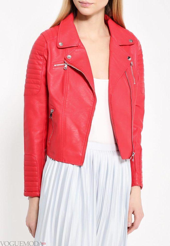 куртка косуха красная