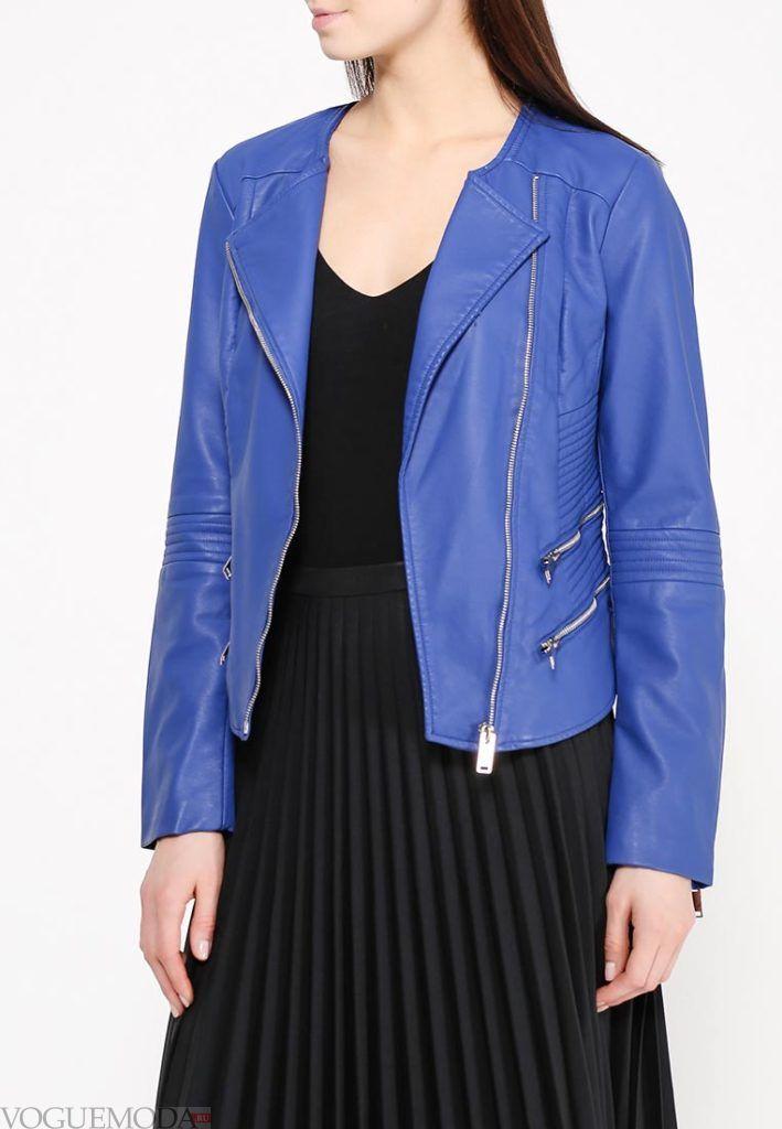 куртка косуха синяя