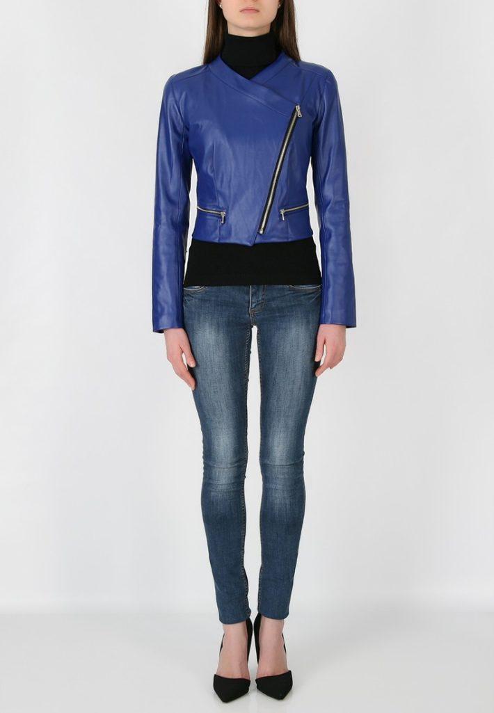 куртки косухи: синего цвета