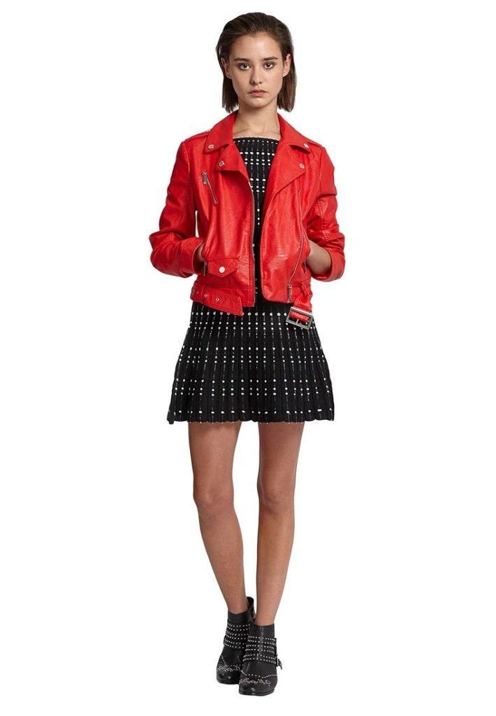 куртки косухи: красного цвета