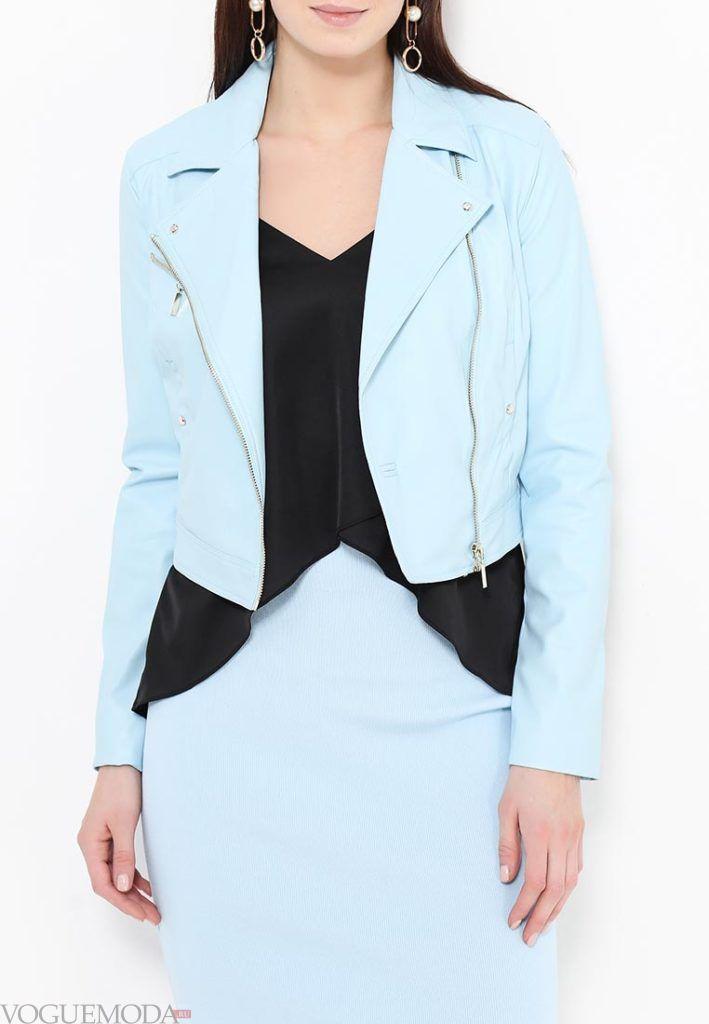 куртки косухи: голубая