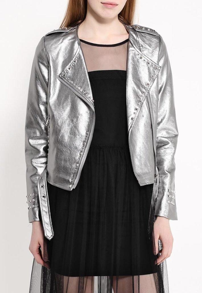 куртка косуха серебро