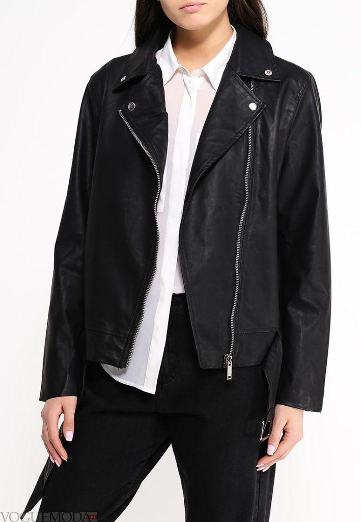 куртка косуха кожаная чёрная