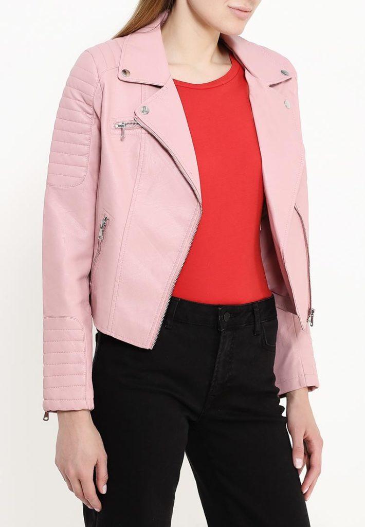куртка косуха кожаная фиолетовая