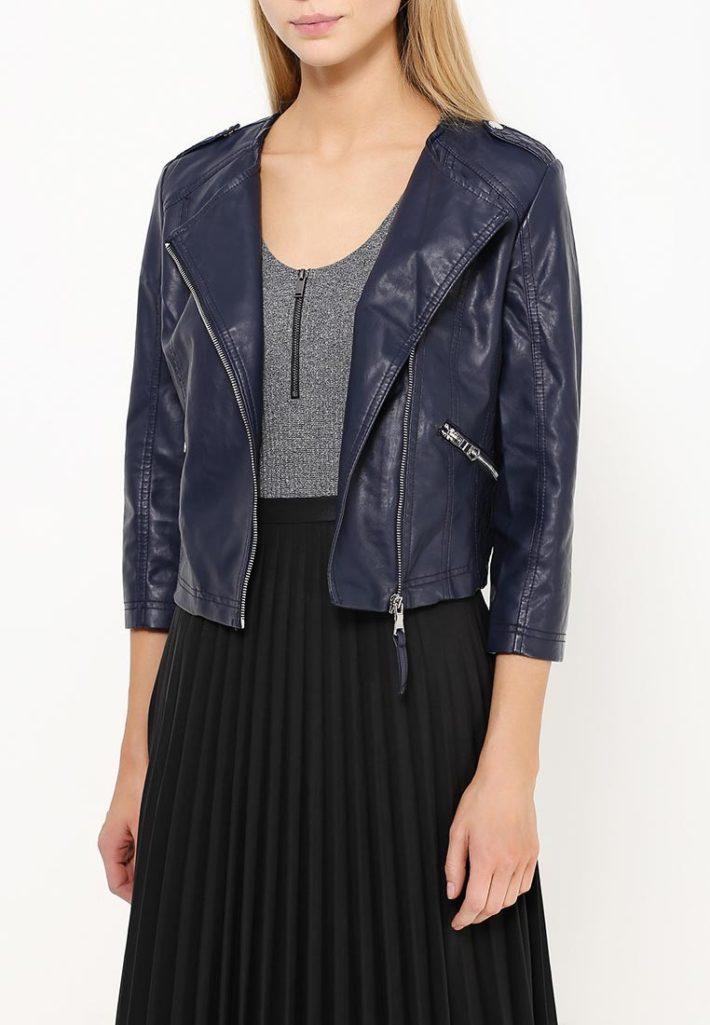 куртка косуха кожаная с коротким рукавом