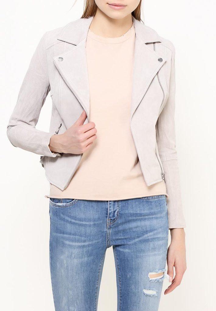 куртка косуха светло серая