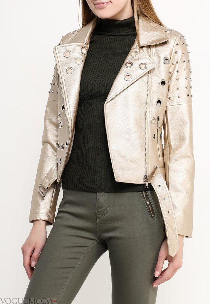куртка косуха золото