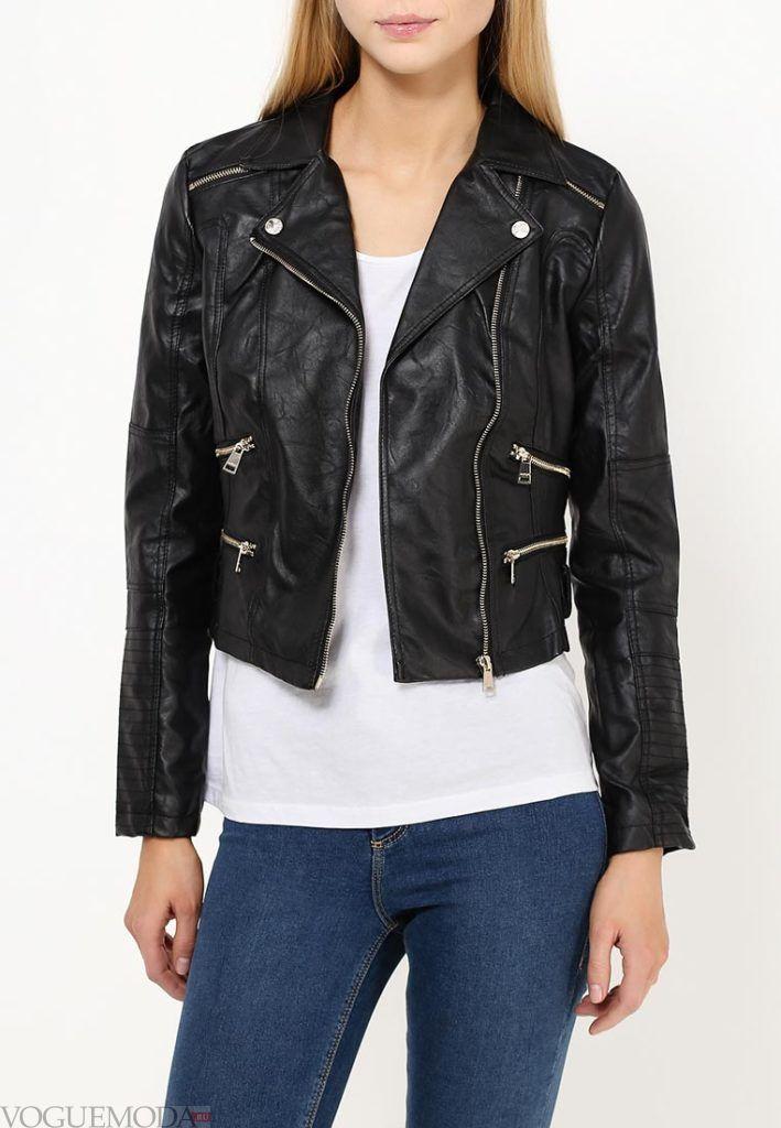 куртка косуха с двумя замками