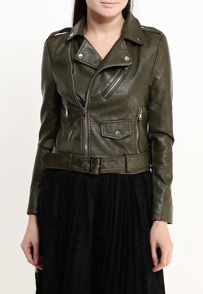 куртка косуха оливкового цвета
