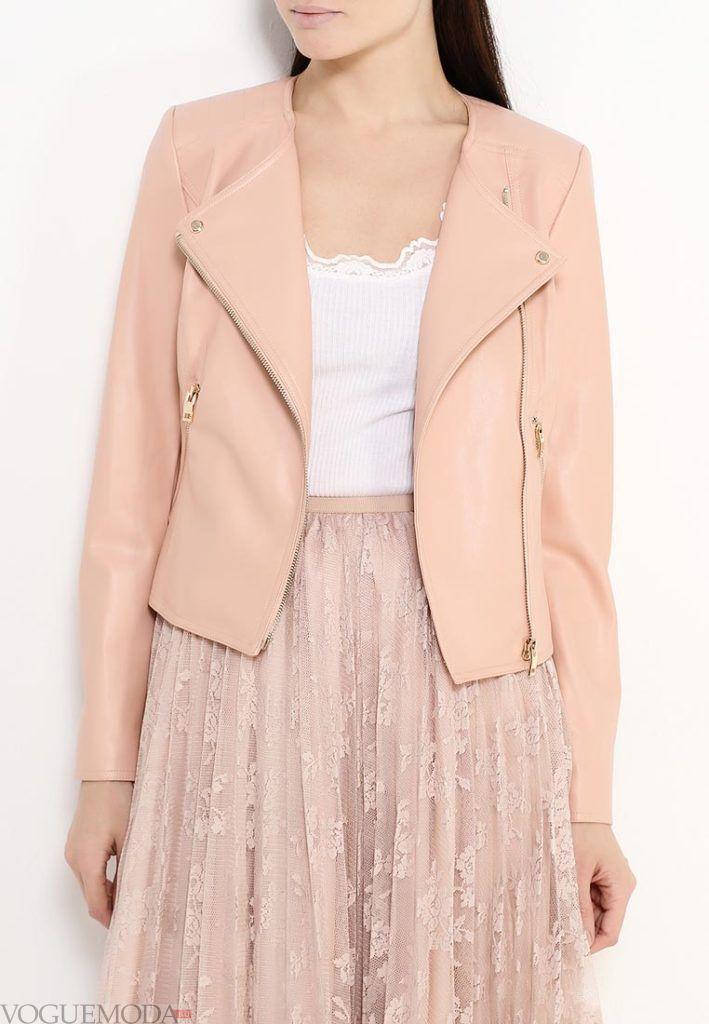 куртки косухи: нюдовая