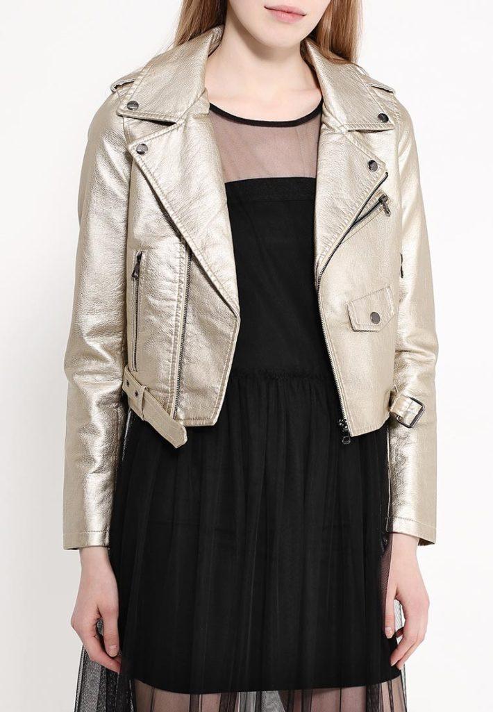 куртки косухи: серебристая